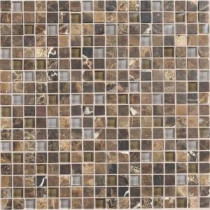 Daltile Stone Radiance Wisteria 12 in. x 12 in. x 8mm Glass and Stone Mosaic Blend Wall Tile