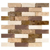 Jeffrey Court Copper Canyon 11.75 in. x 12.5 in. Copper and Marble Mosaic Wall Tile