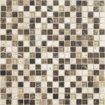 Daltile Stone Radiance Morning Sun 12 in. x 12 in. x 8mm Glass and Stone Mosaic Blend Wall Tile