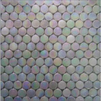 EPOCH Aspen-1470 Penny Round Milk Glass Mesh Mounted Floor & Wall Tile - 3 in. x 3 in. Tile Sample