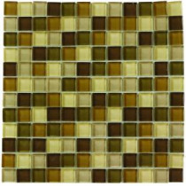 Jeffrey Court Tea Leaf Medley 12 in. x 12 in. Glass Wall Tile
