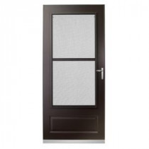 300 Series 36 in. Bronze Triple-Track Storm Door with Nickel Hardware