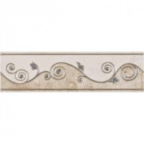 ELIANE Melbourne 3 in. x 8 in. Sand Listello Accent Tile