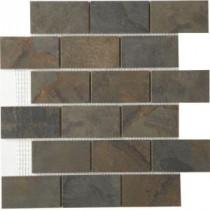 MARAZZI Terra 12 in. x 12 in. Topaz Cypress Porcelain Mesh-Mounted Mosaic Tile