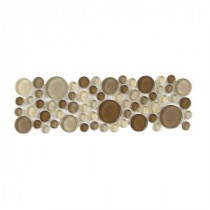 Jeffrey Court Elegant Pebble Liner 4 in. x 12 in. Glass Wall Trim