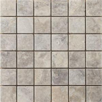 Emser Trav Ancient Tumbled 12 in. x 12 in. x 10 mm Stone Mesh-Mounted Mosaic Tile
