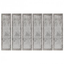16 in. x 4 in. Tundra Beveled Marble Wall Tile (10.56 sq. ft. / case)