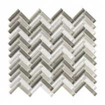 Jeffrey Court 11-3/8 in. x 11-1/4 in. Pleasantville Glass Mosaic Wall Tile