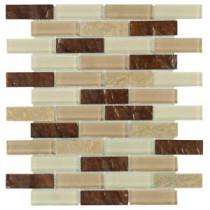 Jeffrey Court Soulful Quartz 10.75 in. x 12 in. Quartz and Glass Mosaic Wall Tile