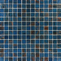 MS International 3/4 in. x 3/4 in. Blue Iridescent Glass Mosaic Floor & Wall Tile