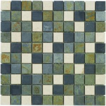 Jeffrey Court Slate Medley 12 in. x12 in. Wall and Floor Tile