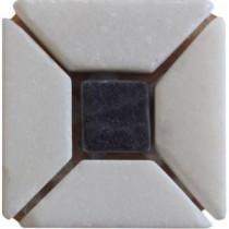 U.S. Ceramic Tile Carrara Blanco 2 in x 2 in 4-pack Marble Stone Wall Tile