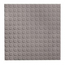 ROPPE Low Profile Circular Design Slate 19.69 in. x 19.69 in. Dry Back Tile