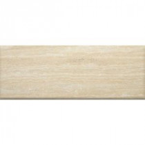 MS International Travertino Romano 3 in. x 8 in. Porcelain Bullnose Wall Tile