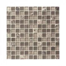 Jeffrey Court Auburn Emperador Glass Mosaics 12 in. x 12 in. Wall / Floor Tile