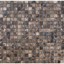 MS International 5/8 In. x 5/8 In. Emperador Cafe Marble Mosaic Floor & Wall Tile