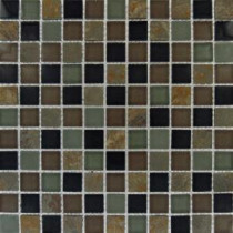 MS International California Gold 1 in. x 1 in. Glass 7 Stone Blend Mesh-Mounted Mosaic Tile
