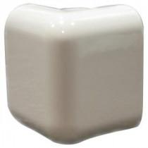 U.S. Ceramic Tile Bright Bone 2 in. x 2 in. Ceramic Sink Rail Left/Right Corner Wall Tile