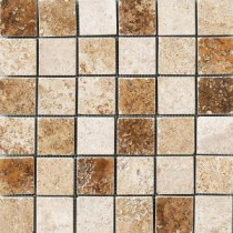 MARAZZI Montagna 12 in. x 12 in. Mixed Porcelain Mesh-Mounted Mosaic Tile
