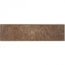 MARAZZI Granite Marron 12 in. x 3 in. Porcelain Bullnose Floor and Wall Tile