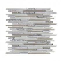 Jeffrey Court Golden Horizon 13 in. x 11-3/4 in. Glass Stone Metal Mosaic Wall Tile