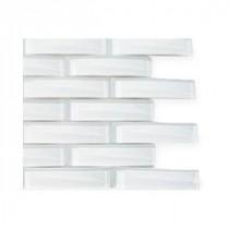 Splashback Tile White Pelican Glass Floor and Wall Tile - 6 in. x 6 in. Tile Sample