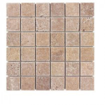 Jeffrey Court 12 in. x 12 in. Noce Travertine Mosaic Tile