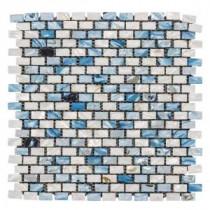 Jeffrey Court 12-1/4 in. x 12 in. La Jolla Glass/Shell Mosaic Wall Tile