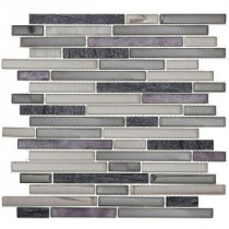 Jeffrey Court Silver Lace Ocean 13 in. x 11.875 in. Glass and Quartz Mosaic Wall Tile