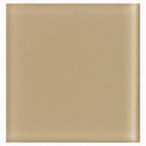 U.S. Ceramic Tile Glass Beige 4 in. x 4 in. Unglazed Insert Wall Tile