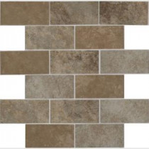 Daltile Grand Cayman 12 in. x 12 in. Glazed Ceramic Brick Joint Mosaic Tile (10 sq. ft. / case)