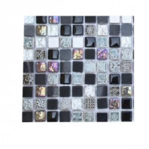 Splashback Tile Aztec Art Blackboard Glass - 6 in. x 6 in. Tile Sample