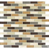 MS International Luxor Valley Brick Pattern 12 in. x 12 in. Multi Glass Mesh-Mounted Mosaic Tile