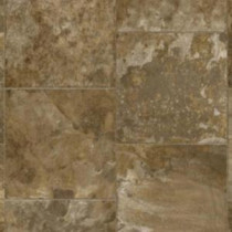 Armstrong River Park Staggered Slate Brown Multi Vinyl Plank Flooring - 6 in. x 9 in. Take Home Sample