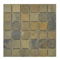 Jeffrey Court Sequoia Slate Mosaic 12 in. x 12 in. Slate Floor and Wall Tile