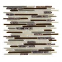Jeffrey Court Brimstone 13 in. x 11-5/8 in. Glass Stone Mosaic Wall Tile