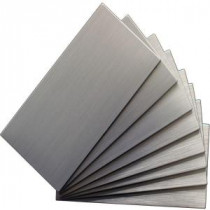Instant Mosaic 6 in. x 3 in. Peel and Stick Brushed Stainless Color Metal Wall Tile (8 tiles/1 sq. ft. / pack)