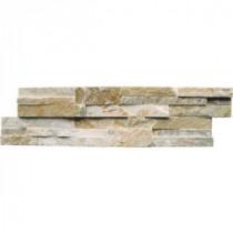 MS International Golden Honey Ledger Panel 6 in. x 24 in. Natural Slate Wall Tile (5 cases/30 sq. ft. / pallet)