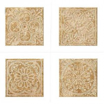 MARAZZI Montagna Cortina 6 in. x 6 in. Porcelain Embossed Deco (Receive 1 of 4 Random Decos - Sold as Singles)
