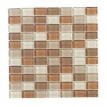 Jeffrey Court Spring Bouquet Brick Glass 12 in. x 12 in. Glass Wall & Floor Tile