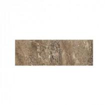 Daltile Campisi Sable 3 in. x 9 in. Brown Ceramic Bullnose Wall Tile