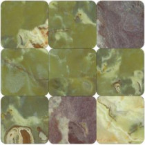 MS International Green Onyx 4 in. x 4 in. Tumbled Onyx Floor & Wall Tile