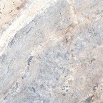 MS International Silver Travertine 18 in. x 18 in. Honed Travertine Floor & Wall Tile