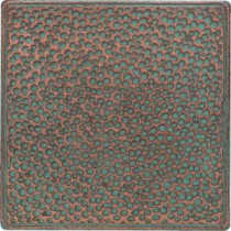 Daltile Castle Metals 4-1/4 in. x 4-1/4 in. Aged Copper Metal Insert B Accent Wall Tile
