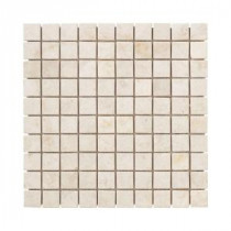 Jeffrey Court Creama Mosaics 12 in. x 12 in. Marble Kitchen Wall / Floor Tile