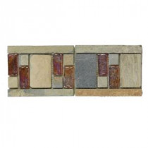 Jeffrey Court Aspen 4 in. x 10 in. Glass and Slate Wall Tile
