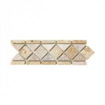 Jeffrey Court Venezia 12 in. x 3 in. Gold Travertine Strip Wall Tile