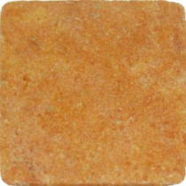 MS International Sunrise Travertine 4 in. x 4 in. Tumbled Travertine Floor & Wall Tile