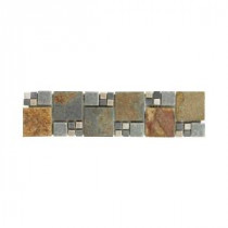 Jeffrey Court Ancient Tide Slate Strip 3 in. x 12 in. Wall and Accent Trim
