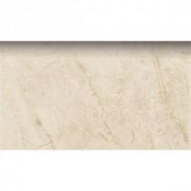 PORCELANOSA Romo Botticino 3 in. x 8 in. Natural Ceramic Bullnose Trim Tile